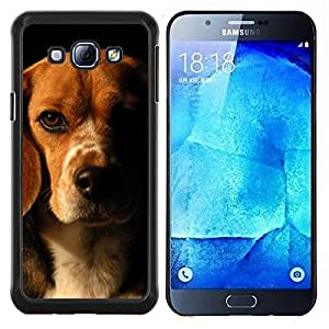 YiPhone /// Prima de resorte delgada de la cubierta del caso de Shell Armor - Beagle Marrón Negro perro de mascota - Samsung Galaxy A8 A8000