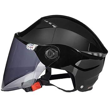 Ultraligero Medio Casco Cómodo Y Cómodo Semi Cubierto Casco De Moto Protección Solar Casco De Seguridad