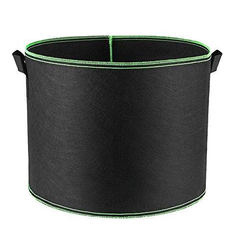 HONGVILLE Grow Bags Aeration Fabric Pots with Handles, 300 Gallon, Green