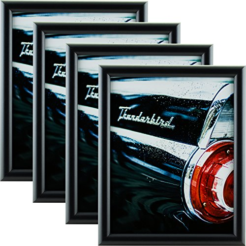 - Craig Frames FW2BK 8 by 12-Inch Picture Frame 4-Piece Set, Smooth Finish.765-Inch Wide, Black