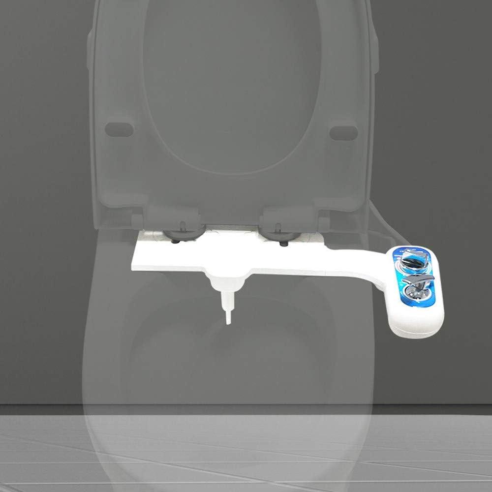 Chaud Et Froid Bidet Toilette pour Toilette Intime Pulv/érisateur deau roroz Kit Douchette Bidet pour WC Conception Main Gauche avec Buse Simple Pression deau R/éGlable Self Cleaning