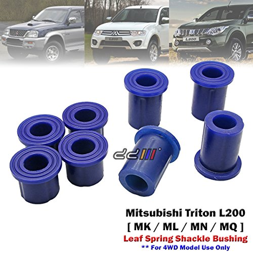 8pcs Poly Rear Spring Shackle Bushing For Mitsubishi Triton L200 MK ML MN MQ 4WD