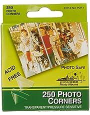 Pioneer Photo Corners Self Adhesive, 250/Pkg, Clear
