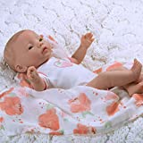 Paradise Galleries Newborn Baby Doll 16 inch Reborn Preemie, Swaddlers: Peach Blossom, Safety Tested for 6+, 4-Piece Set