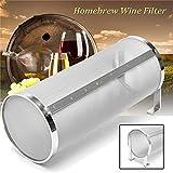 ProMaker Stainless Hop Spider Beer Keg Dry Hopper Filter Screen Strainer 300 Micron Mesh for Home Beer Brewing Kettle Kegging Equipment (4 X 10 inch)