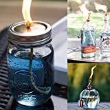 """[24 Feet ] [1/4 """"/ 6mm] Round Fiberglass Wick DIY Replacement, For DIY Oil / Kerosene lamp &Tiki torches &Rock candles, and Lab Alcohol / Spirit lamp for students"""