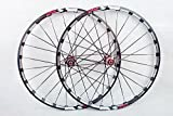 MTB Mountain Bike Bicycle 26inch Milling trilateral Alloy Rim Carbon Hub Wheels Wheelset Rims