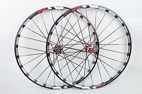 MTB Mountain Bike Bicycle 26inch Milling trilateral Alloy Rim Carbon Hub Wheels Wheelset Rims (Best All Mountain Wheelset)