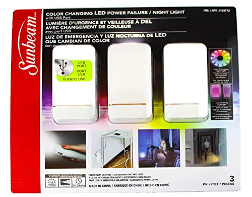 (Sunbeam SunbeamLed3pk SunbeamLedLight Night Light 3 Pk White New)