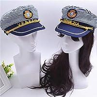 Amosfun Gorra de Capitán Barco para Niños Sombrero Marina Sombrero ...
