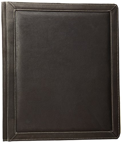 Piel Leather Three-Ring Binder Chco, Chocolate