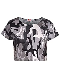 A2Z 4 Kids® Girls Top Kids Camouflage Crop Top Legging Midi Skater Dress Playsuit 7-13 Years