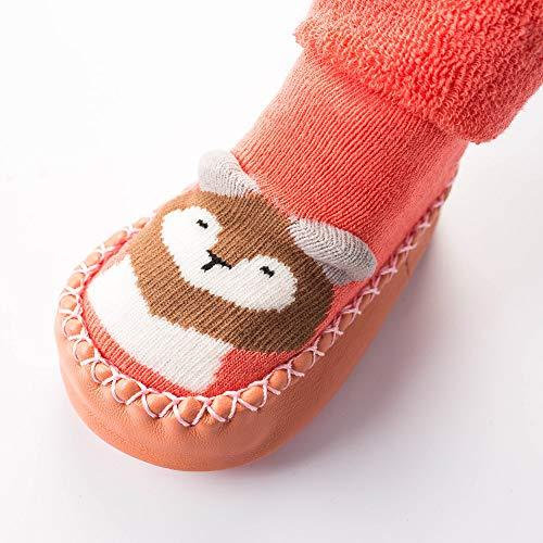 NUWFOR Newborn Baby Boys Girls Cartoon Cute Warm Floor Socks Anti-Slip Baby Step Socks(Pink,6-9Months by NUWFOR (Image #2)