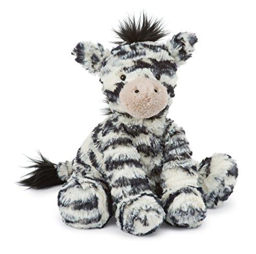 Plush Baby Zebra - Jellycat Fuddlewuddle Zebra Stuffed Animal, Medium, 9 inches