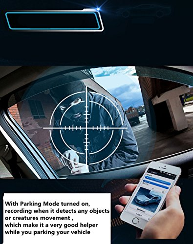 4G Car Dash Cam 10.0'' Touch GPS Navigation WIFI Bluetooth Dual Lens Rearview Mirror Camera Android 5.1 Vehicle Video Recorder with Night Vision, 170-degree Wide Angle Lens with G-Senor by sunray (Image #4)