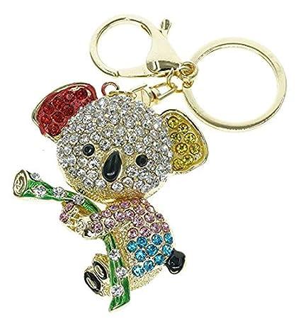 Reizteko - Llavero con diseño de oso de koala y cristales de ...