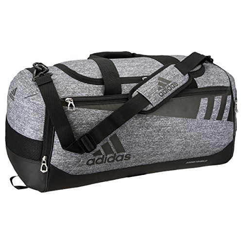 adidas Team Issue Duffel Bag, Onix Jersey/Black, Medium