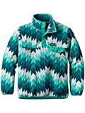 #4: Patagonia Girls' Lightweight Synchilla Snap-T Fleece Pullover (L, Zigzag/Strait Blue)