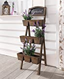 Cheap Wood Plant Stand / Flower Shelf for Outdoor or Greenhouse, Three Tiers Product SKU: GD221916
