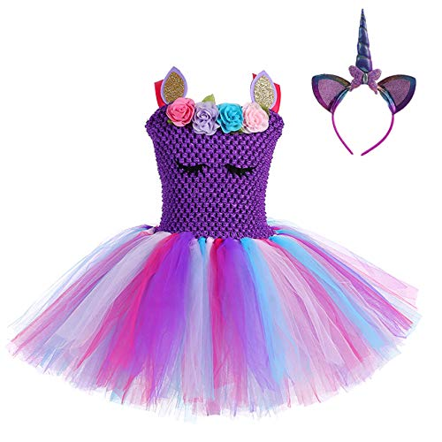Little Girls Unicorn Tutu Costumes Teens Birthday Party Tutus Dresses -