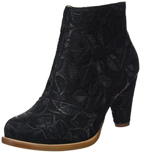 Neosens Women's Fantasy Leaves Ankle Boots Black (Black Leaves) D1j2DDB66k