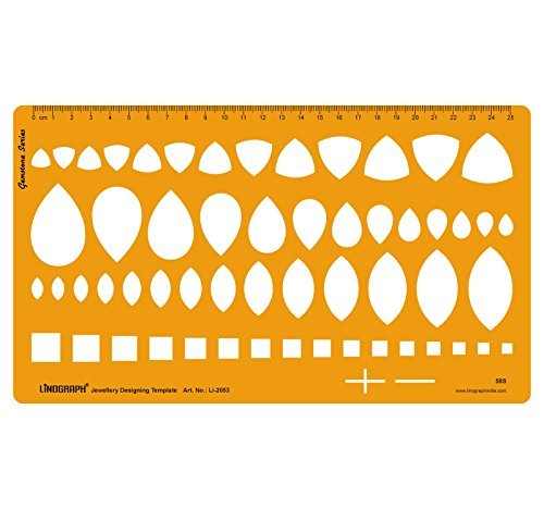 Diamond Gemstone Drafting Templates Jewellery Designing Template Stencil Symbols Technical Drawing Scale by LINOGRAPH (Image #1)