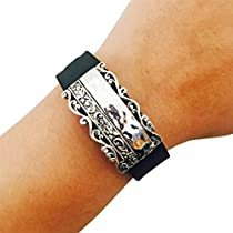 Charm to Accessorize the Fitbit Flex and Other Fitness Trackers - The BELLISIMA Charm in Embellished Silver to Dress Up Your Favorite Fitness Tracker (Silver, Garmin Vivosmart HR)