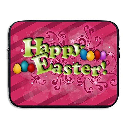 Fashion Happy Easter Pink Background Computer Storage Bag Portable Laptop Sleeve Bag ()