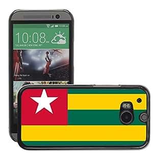 GoGoMobile Slim Protector Hard Shell Cover Case // V00001170 togo National Country Flag // HTC One M8
