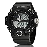 OHSEN Brand Mens Waterproof Alarm Auto Date Sport LED Digtal Watch+OHSEN Box