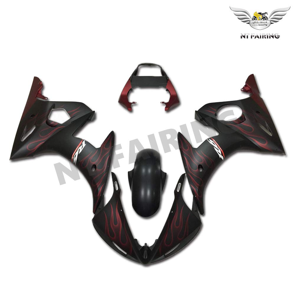 NT FAIRING Blue White Injection Mold Fairing Fit for Yamaha YZF 2003-2005 R6 /& 2006-2009 R6S New Painted Kit ABS Plastic Motorcycle Bodywork Aftermarket