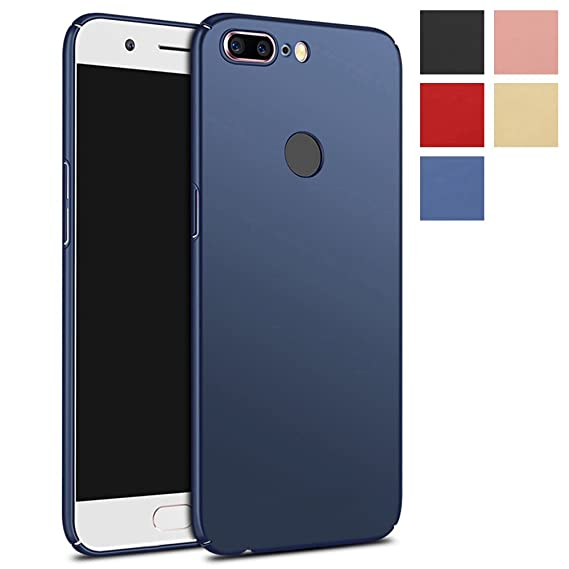 separation shoes e7551 e93c5 OnePlus 5T Case, PUSHIMEI Ultra Thin Lightweight Hard Phone Case Cover for  OnePlus 5T (Navy Blue)
