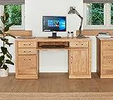Baumhaus Mobel Oak Twin Pedestal Computer Desk