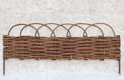 "WE-48, Woven Willow Edging with Arc Top, 16""H x 47""L"