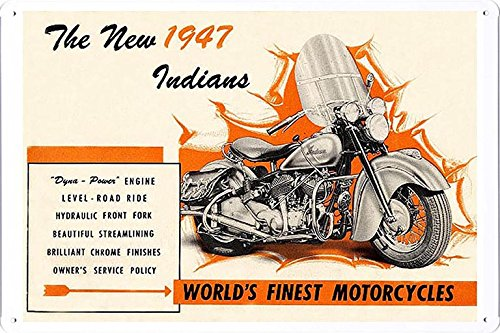 Abstract Sign The New 1947 Indians Motorcycles 7.8