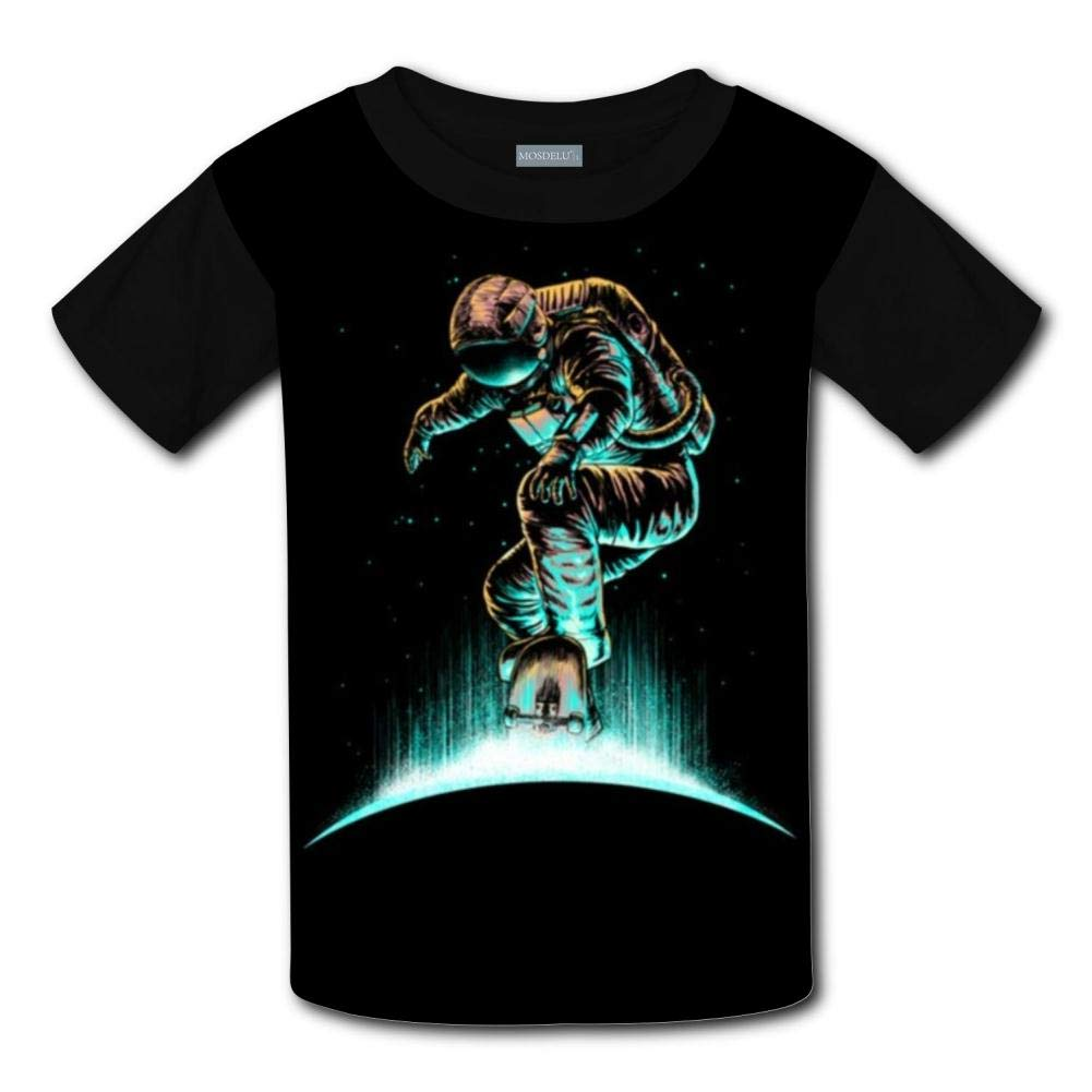 Shirts Short Sleeve Kids Tee XiuHongShangMAo Unisex Youth 3D Skate Astronaut T