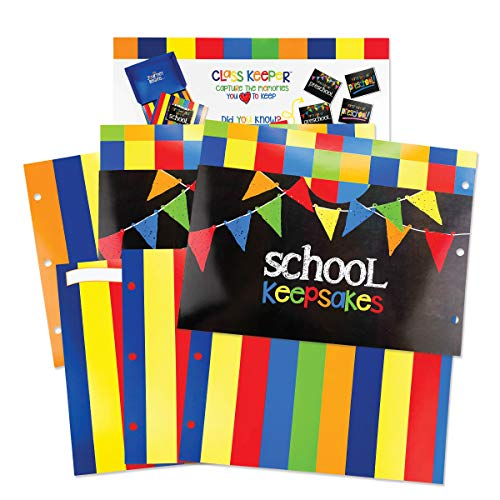 (School Memory Scrapbook (3 Sets) Refill Extra Pockets and Photo Pages Kits for Class Keeper Memory Keepsake Book for Girls and Boys)