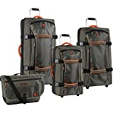 Timberland 4 Piece Spinner Luggage Set, Burnt Olive/Burnt Orange