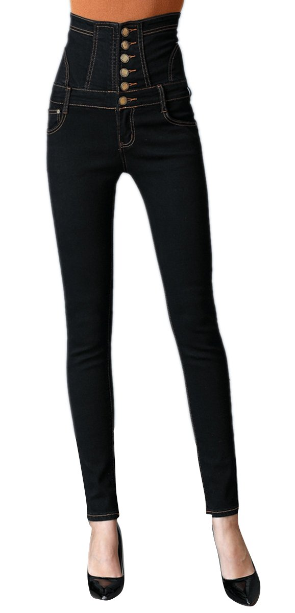 Women's Butt Lift Super Comfy Perfectly Slimming Denim Skinny Jeans Pants Black