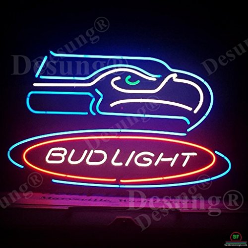 """Desung Brand New 20""""x16"""" Sports Team SS BudLight Neon Sign (Various sizes) Beer Bar Pub Man Cave Business Glass Neon Lamp Light DB208"""