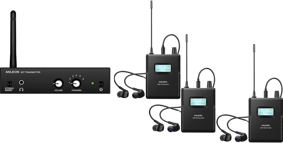 Anleon S2 Sistema In-ear monitor wireless stereo 1 Receiver