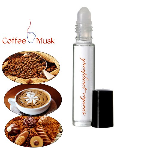 Set of 2: Coffee Musk Scented Oils .33oz x2 (Notes of Musk, Rich Dark Roast Coffee & With a Hint of Fresh Cocoa) (3n Cocoa)