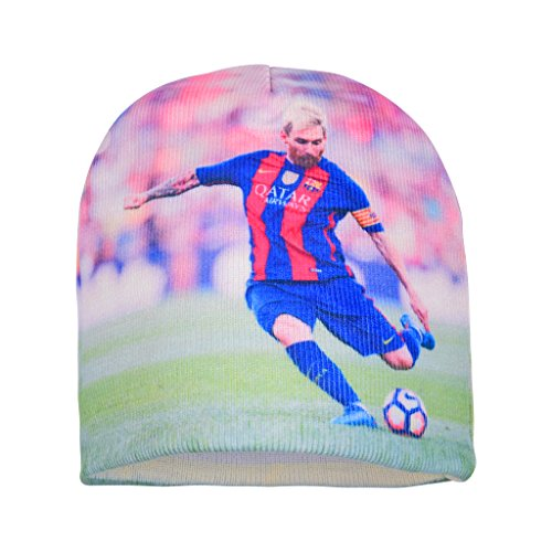 Forever Fanatics Barcelona Lionel Messi #10 Soccer Beanie ✓ Digital Graphic Printing ✓ Pefect Soccer Fan Gift (One Size Fits All, Messi #10 Beanie)