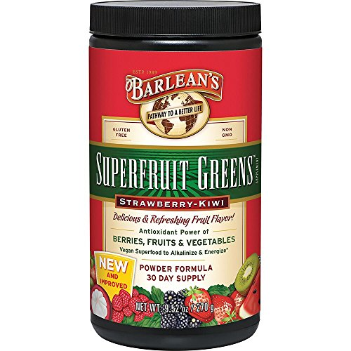 Barlean's Superfruit Greens, Strawberry Kiwi 9.52-oz ()