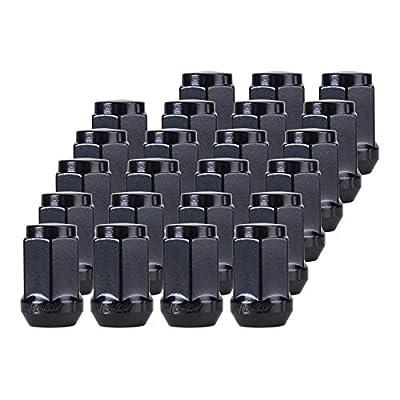 "Orion Motor Tech 23pcs 1/2-20 Closed End Spline Lug Nuts Black - 3/4""(19mm) Hex"