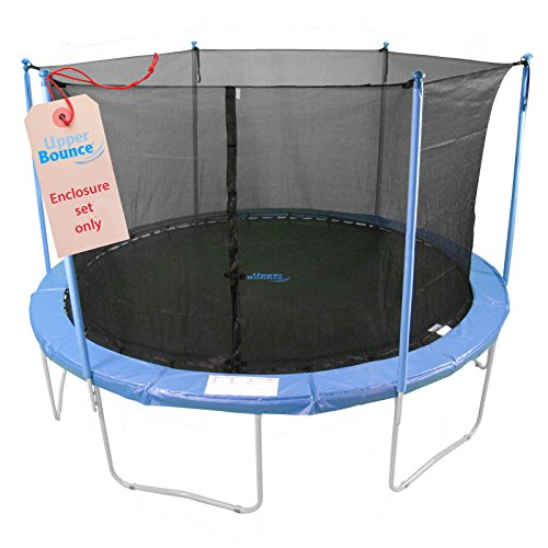 Upper Bounce Trampoline Enclosure Set, to fit 14 FT. Round Frames, for 3 or 6 W-Shaped Legs -Set Includes: Net, Poles & Hardware Only