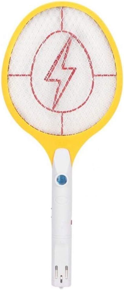 Dkfs Elektrische Fliegenklatsche Schläger Wiederaufladbare Moskito Fliegen Mörder 220v Gelb Amazon De Garten