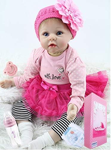 NPKDOLL Realistic Reborn Baby Dolls Girl Cute Soft Vinyl Silicone Dolls Weighted Baby Reborn Dolls Handmade Newborn Baby Dolls with Clothes NPK Doll