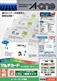 -One (A-one) multi-card laser printer special paper plain white A4 size 10 sided business card size 100 sheets (1,000 sheets) 51 336 (japan import)