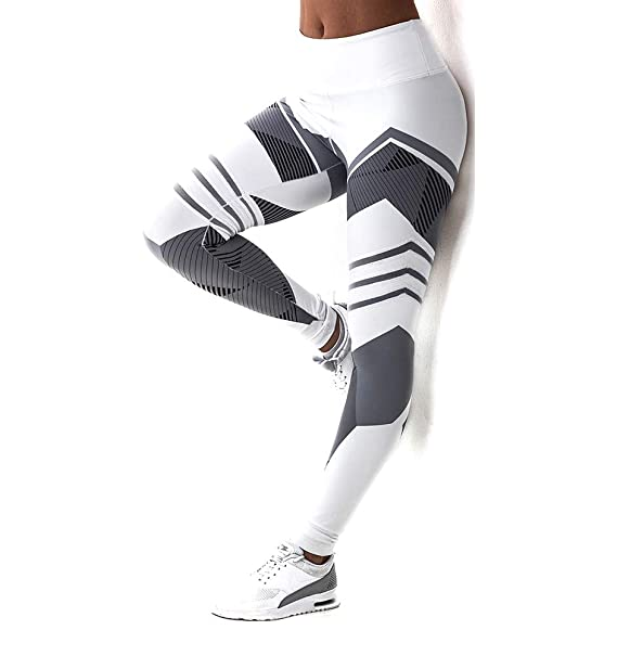 16a2aad4c802f Fittoo Yoga Pants Sport Pants Workout Leggings Sexy High Waist Trousers -  White Arrow (S